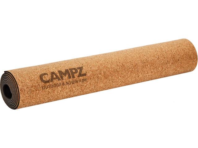 CAMPZ Cork Yoga Matte M Vrikshasana brown